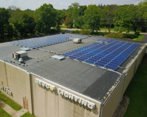solar array at Hesco Lighting