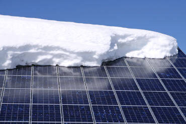 Solar Panels with Snow on them