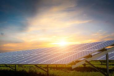 solar energy with sun