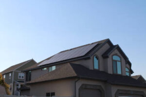 Residential,Solar,Installation,With,Black,Solar,Panels.,Low,Profile,Photovoltaic