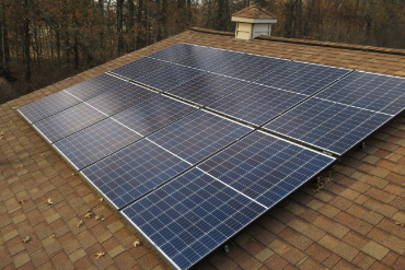 An,Array,Of,Black,Photovoltaic,,Solar,Panels,Collecting,Energy,From